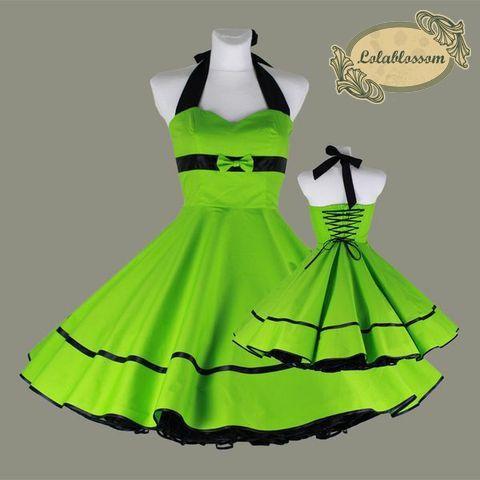zelená spodnička šaty sobě šněrováním - LolaBlossom.com  c6757b6929