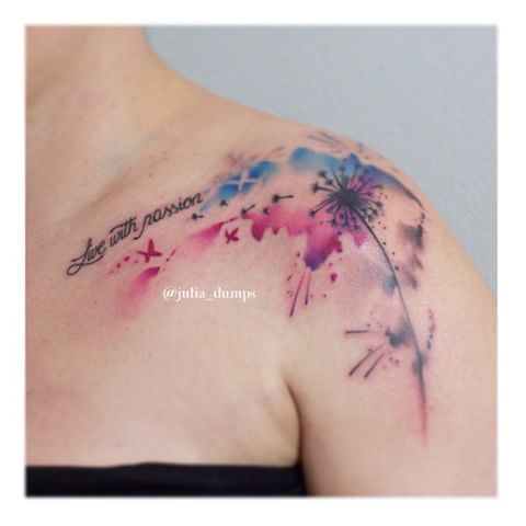 bildergebnis f r watercolor tattoo pusteblume tattoo pinterest pusteblume pusteblume. Black Bedroom Furniture Sets. Home Design Ideas