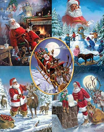 Santas Big Night Puzzle-White Mountain Puzzles
