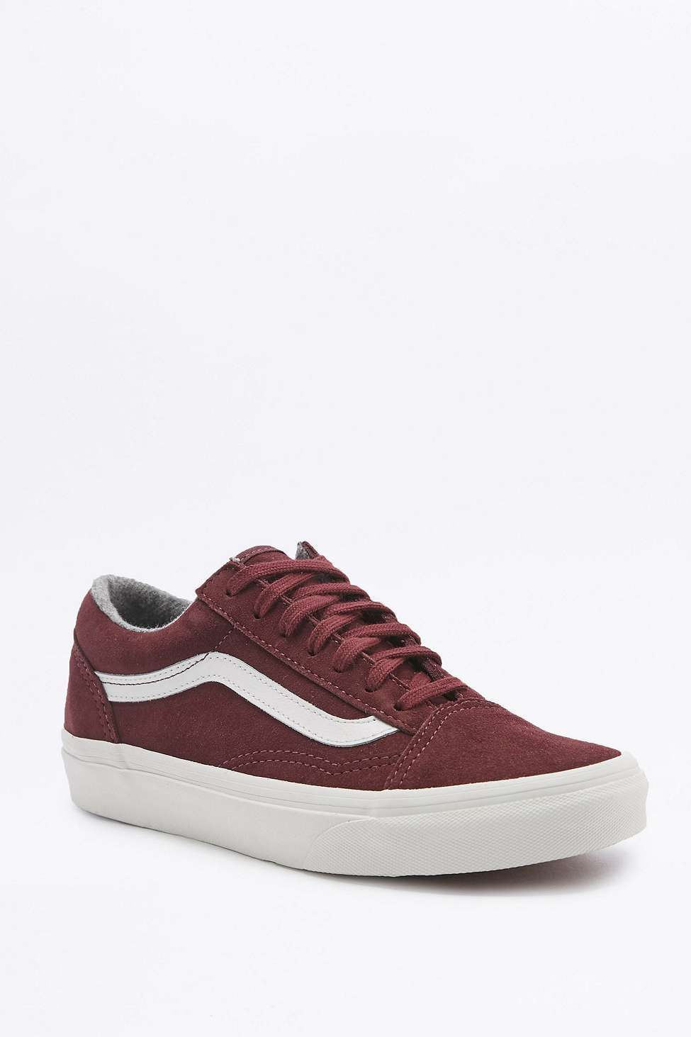 Vans - Baskets Old Skool bordeaux en daim | Vans old skool ...