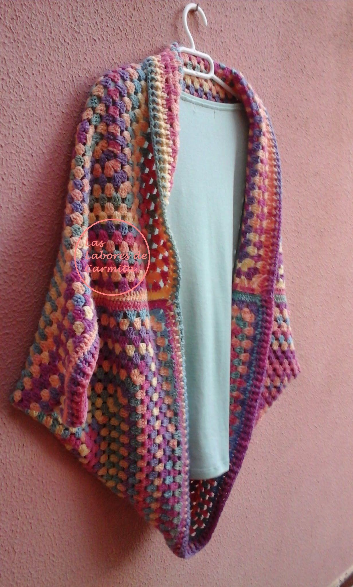 chaqueta crochet granny square tutorial | tejido facil | Pinterest ...