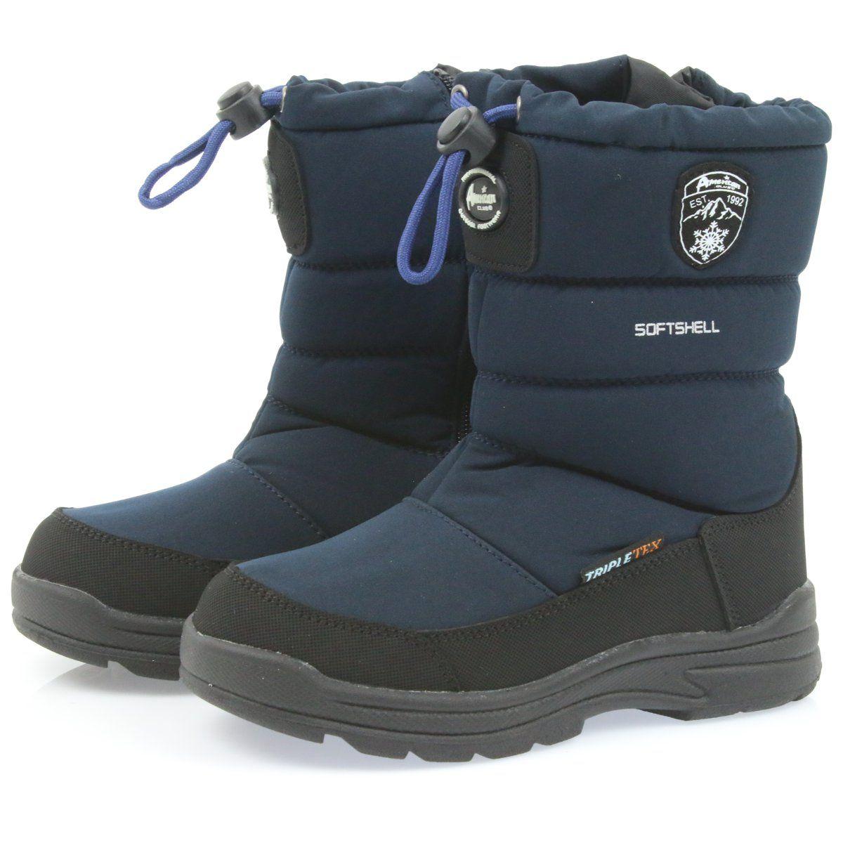 American Club Buty Z Membrana American 801sb Granatowe Czarne Boots Winter Boot Shoes