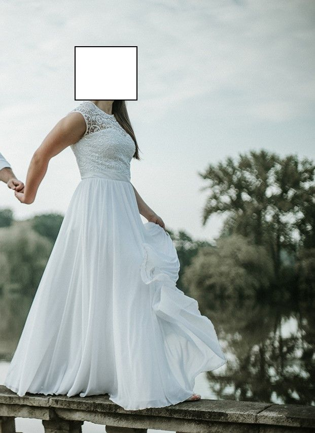 Suknia Slubna L 40 Koronka Muslin Boho 2017 Slub 6885010910 Oficjalne Archiwum Allegro Wedding Dresses Dresses Sleeveless Wedding Dress