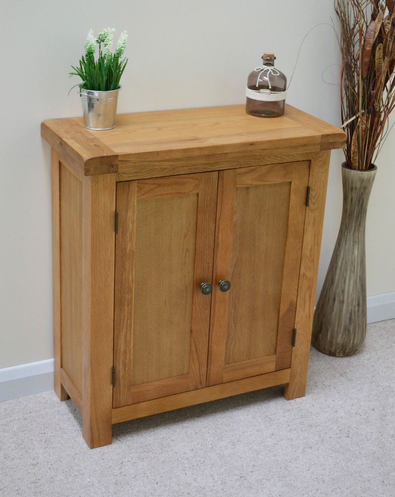 Hall Cupboards Furniture beaufort oak two door linen cupboard / small sideboard / cabinet