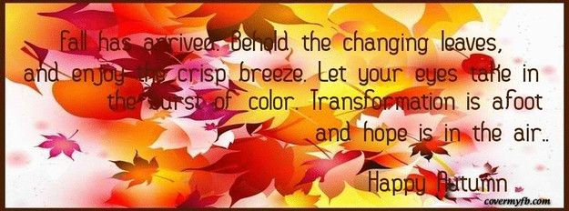 Tomorrow The Big Day Facebook Covers: Autumn Facebook Covers, Welcome