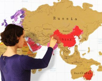 Scratch Off World Map Track Your Travels ME - World map track your travels
