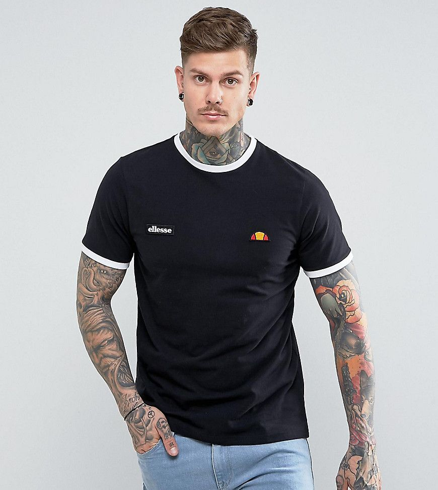 Ellesse ringer tshirt black latest fashion clothes