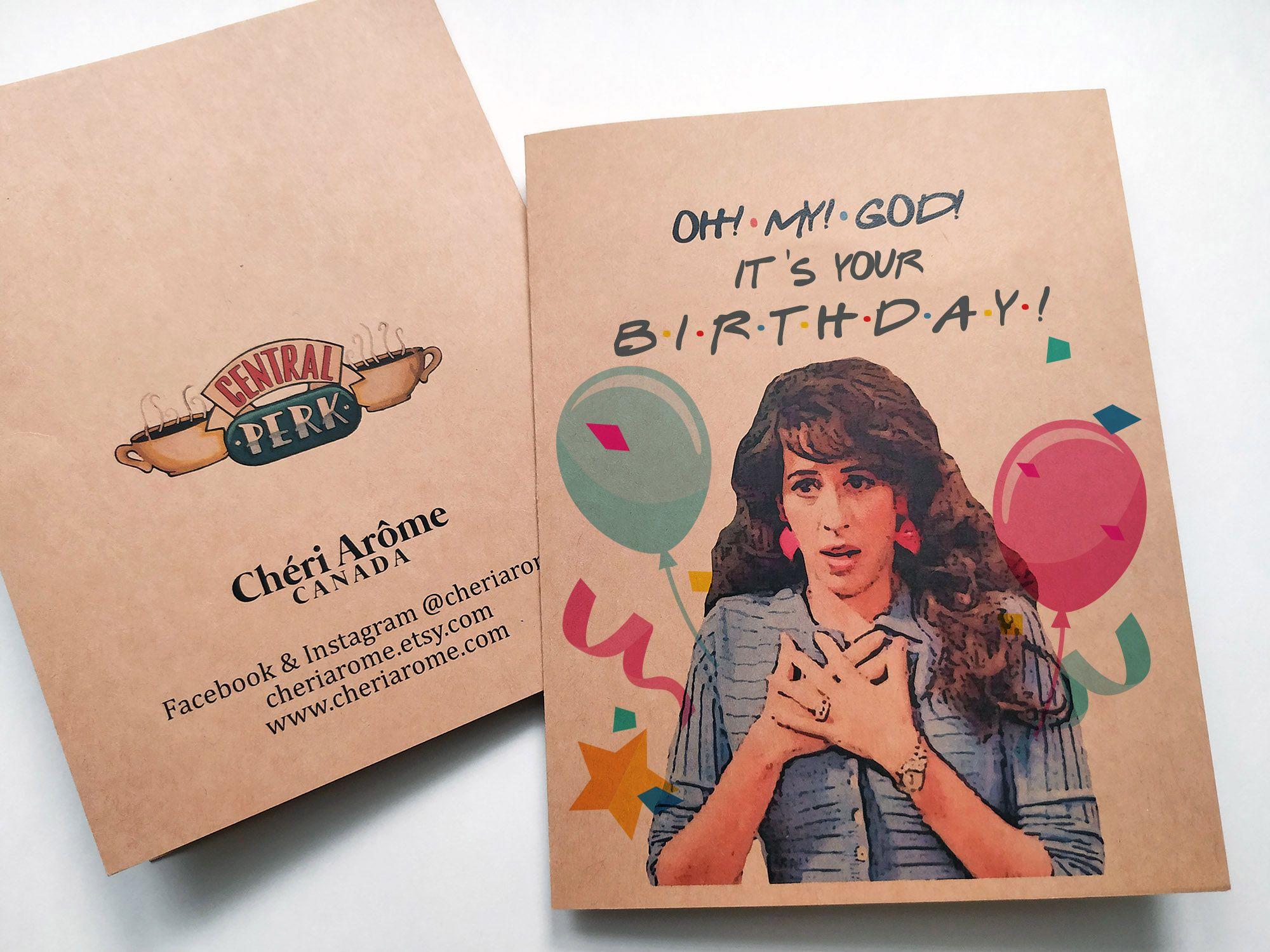Janice Birthday Card Birthday Cards For Friends Friends Tv Friends Merchandise