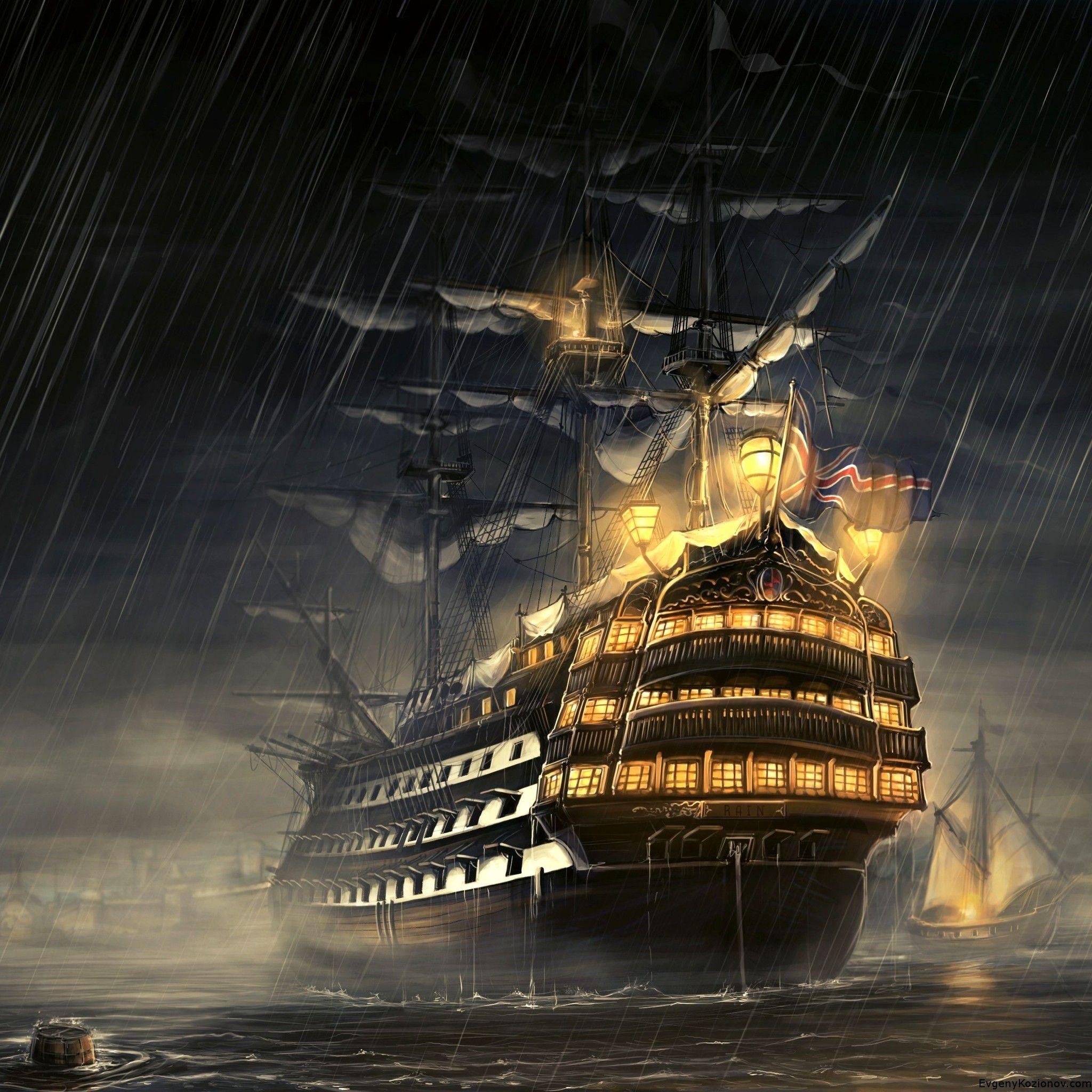 Постеры пиратского корабля руля