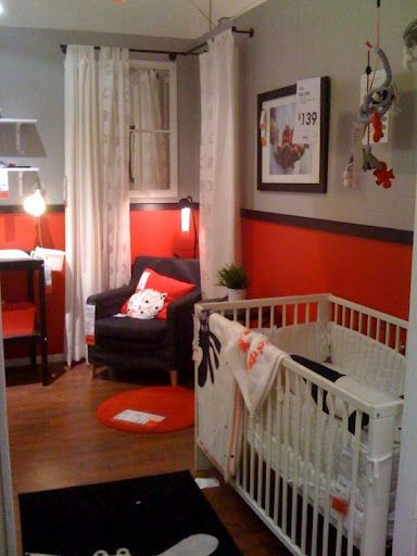 Black Red Grey White Love The Grey Crib I Love The Colors But I Don T Think I Want To P Baby Nursery Interior Design Baby Crib Bedding Unisex Baby