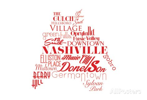 Nashville Art Print at AllPosters.com