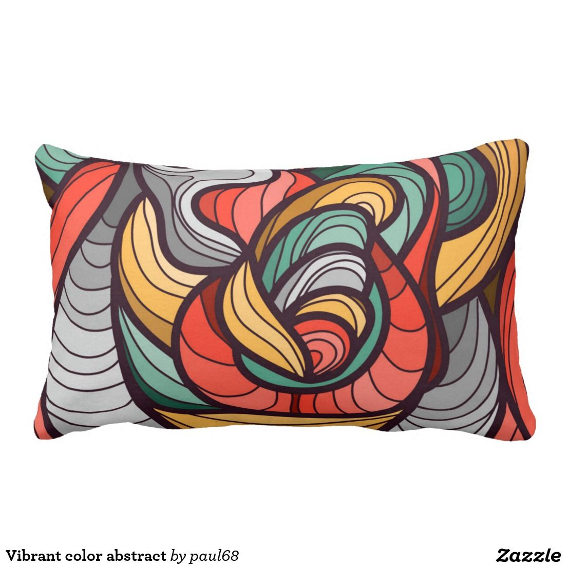Vibrant color abstract pillow