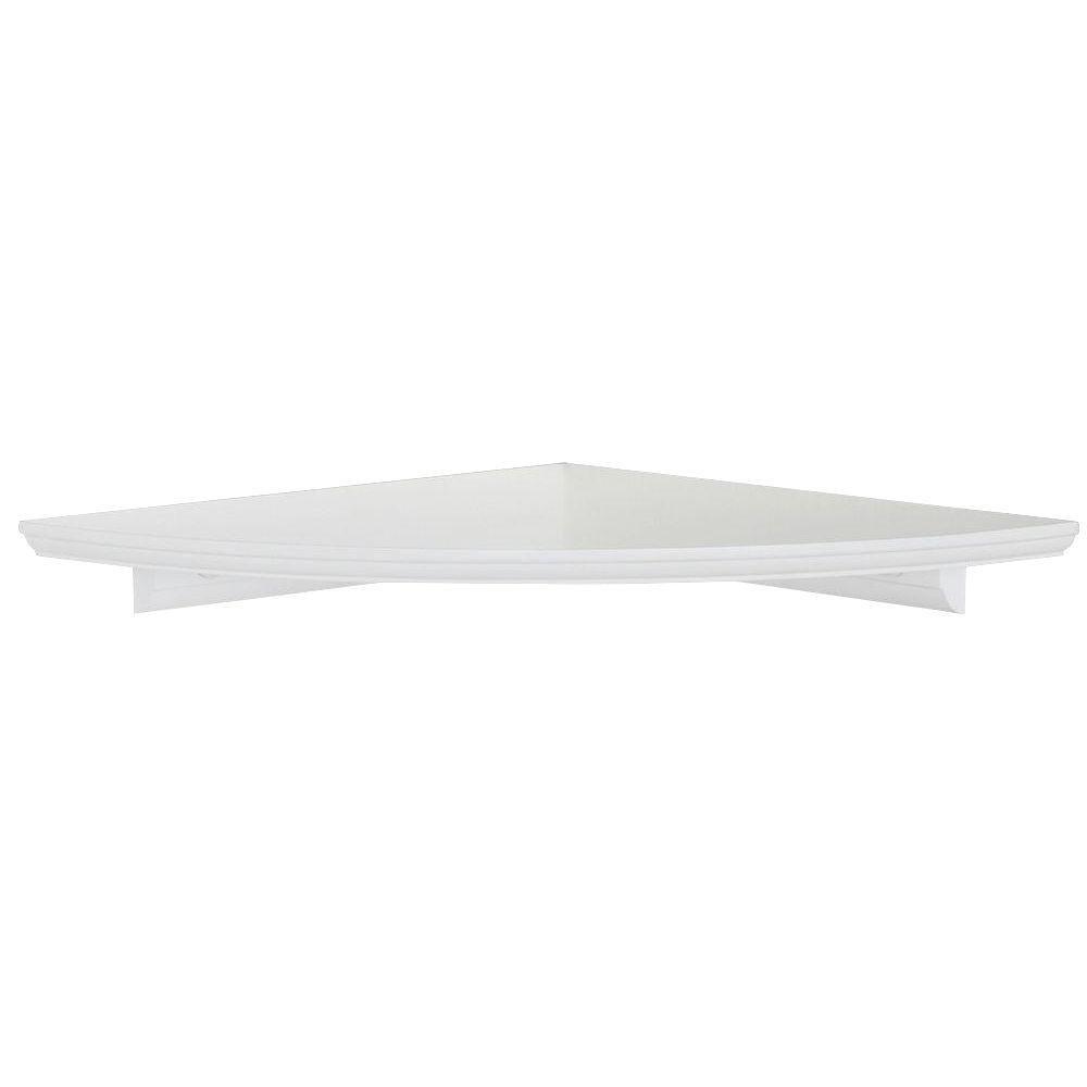 12 In W White Floating Mdf Corner Shelf Hdrcc12w White Floating