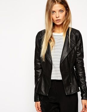 reputation first unbeatable price amazing selection ASOS Leather Jacket With Pephem   Hmmmm...Would I look cute ...