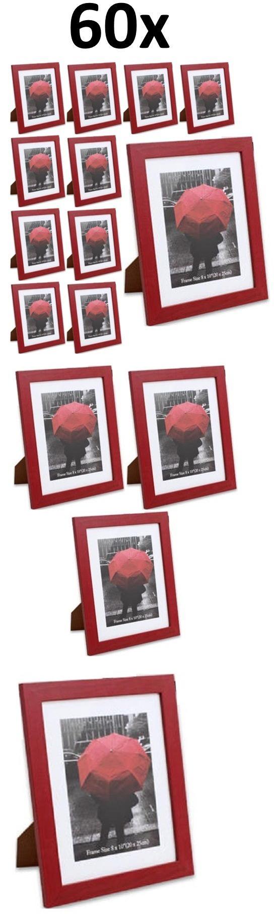 Frames 79654: 60-Pack 8X10 Wood Photo Picture Frame, Red Color, Desk ...