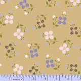 """""""Color Love Petals in Tan"""" by Nancy Rink from the collection """"Color Love"""". Available at www.pinkcastlefabrics.com."""