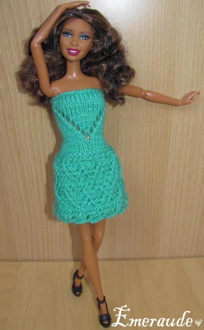 Tuto Robe à Télécharger Tricot Poupée Barbie Kleider Stricken