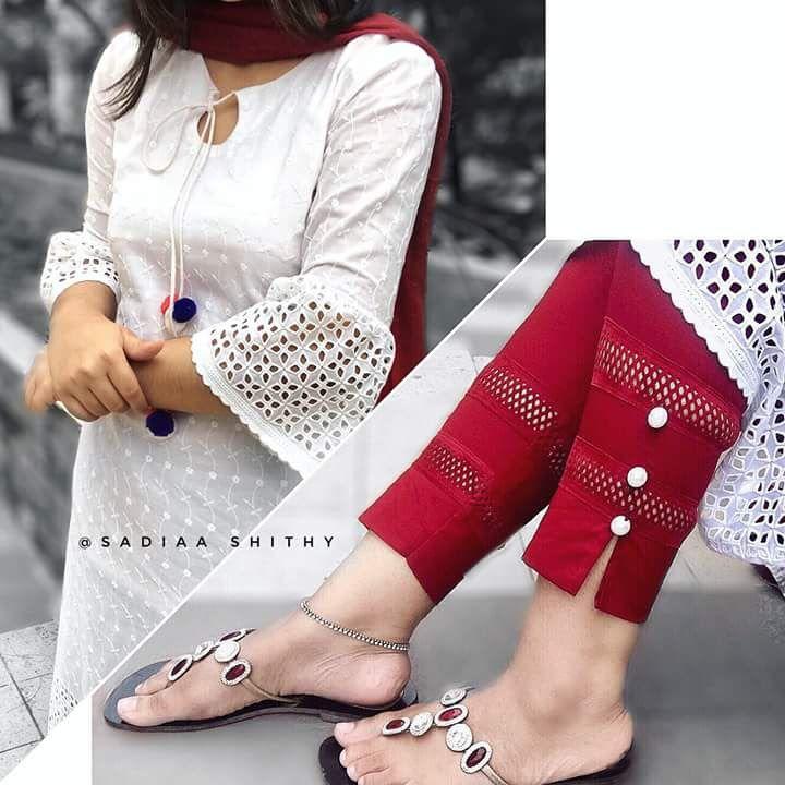 Pant Designs With Kurta Salwar In 2019 Kurti Sleeves