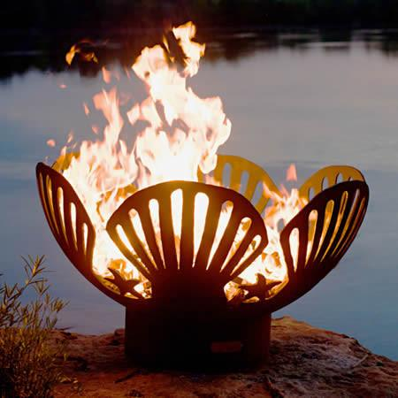 Fire Pit Art Barefoot Beach Handcrafted Carbon Steel Fire Pit Bb