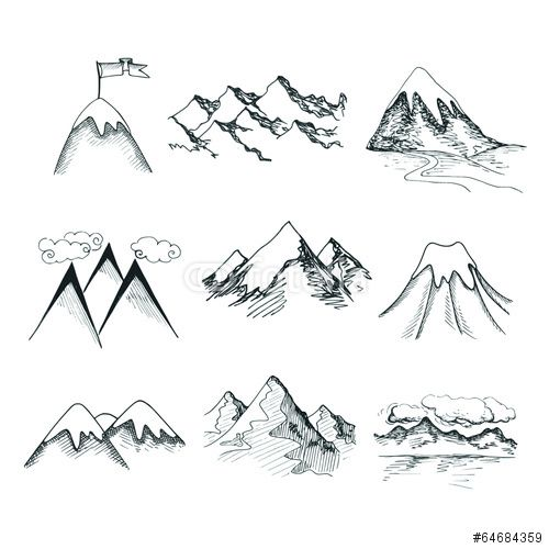 Mountain Top Icons Stock Photo And Royalty Free Images On Fotolia Com Pic 64684359 Mountain Drawing How To Draw Hands Top Icon