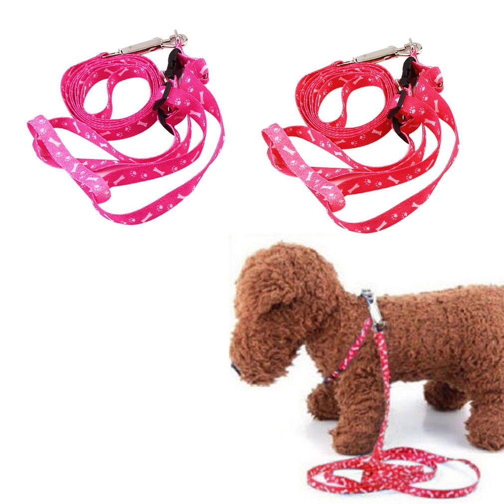 nice 1pc Popular Small Dog Pet Puppy Cat Adjustable Nylon Harness Traction Rope UR
