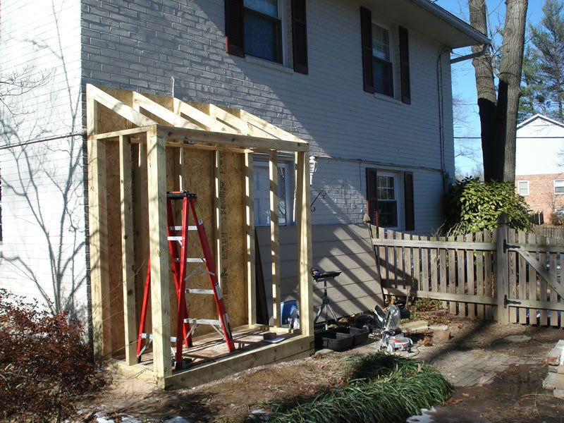 Lean to shed up against house outside ideas for Building a lean to roof on a house