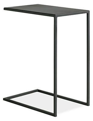 Room Board Slim C Tables In Natural Steel Modern End Tables