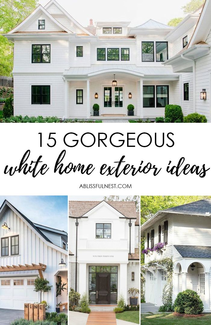 15 Best White Home Exterior Ideas To Up Your Curb Appeal White Exterior Houses House Paint Exterior White Brick Houses