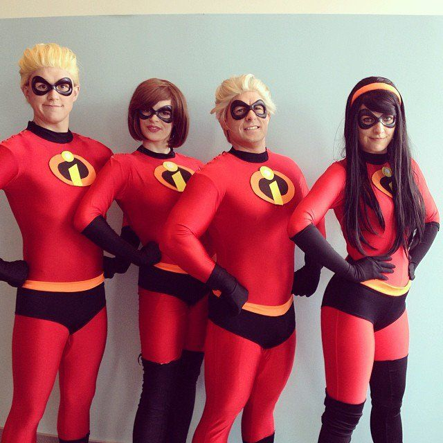 Pin for Later 58 Epic Costumes For Geeky Groups The Incredibles & The Incredibles | Pinterest | Epic costumes Costumes and Halloween ...