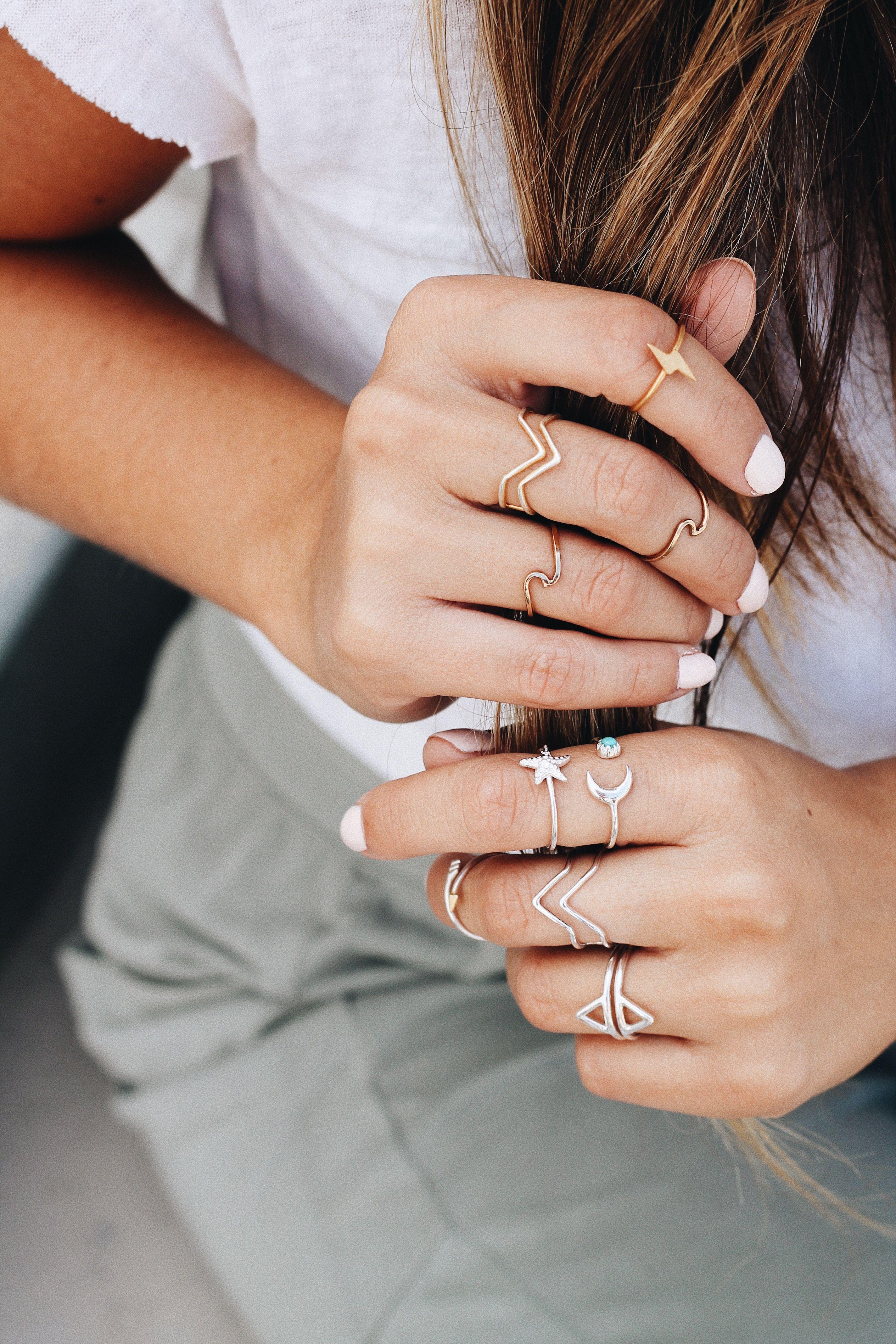91fce587c65b5 Rings on Rings on Rings | Pura Vida Bracelets #livefree ...