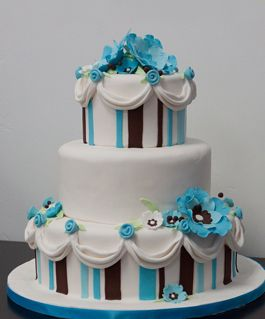 Brown & Teal cake