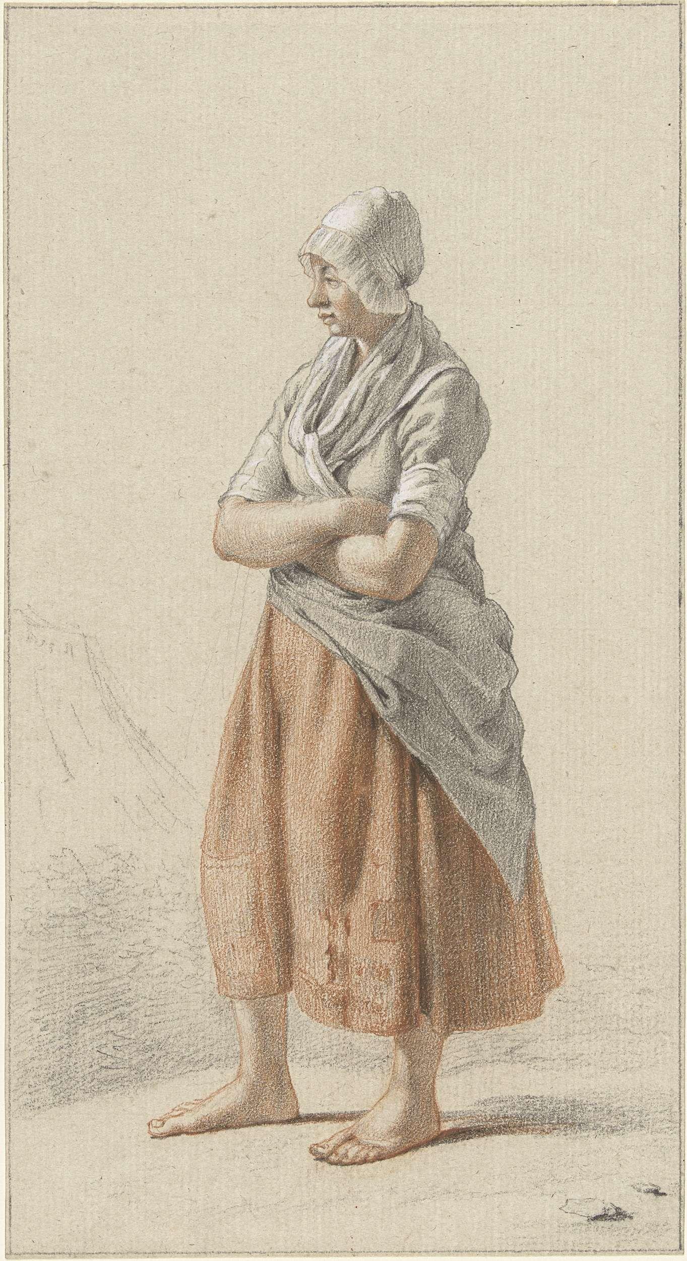 Johan Christiaan Willem Safft | Staand meisje, naar links, Johan Christiaan Willem Safft, 1788 - 1849 |