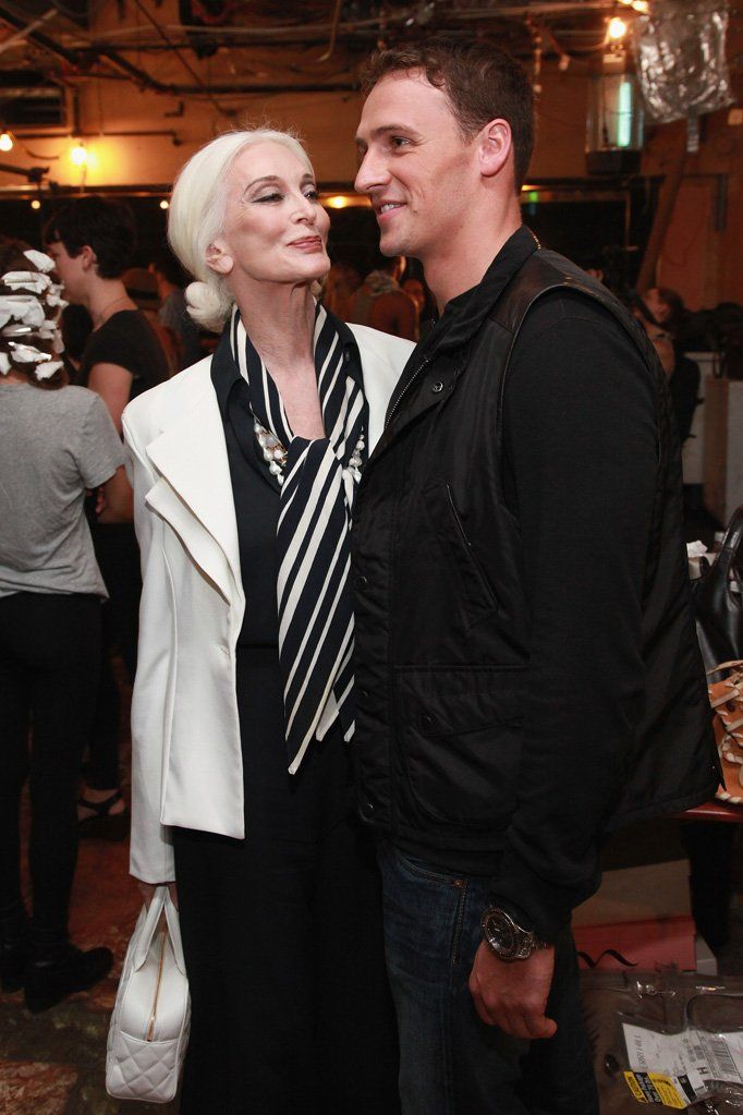 Carmen dell'Orefice with Boyfriend