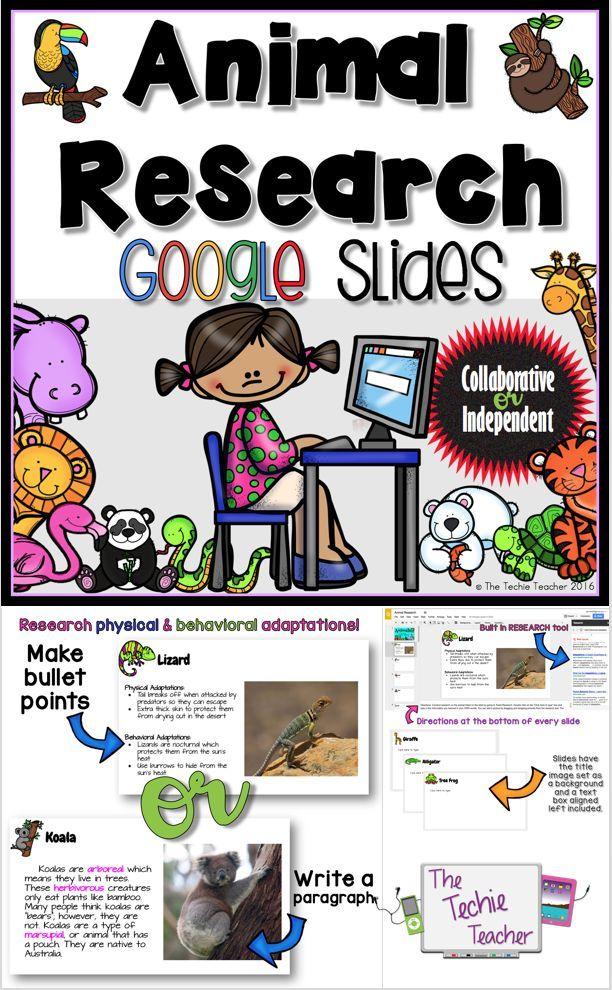 animal research in google slides reading for elementary teachers