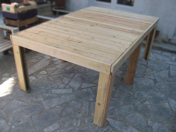 Eco-Design : luminaires et meubles en palettes | Table jardin, Table ...