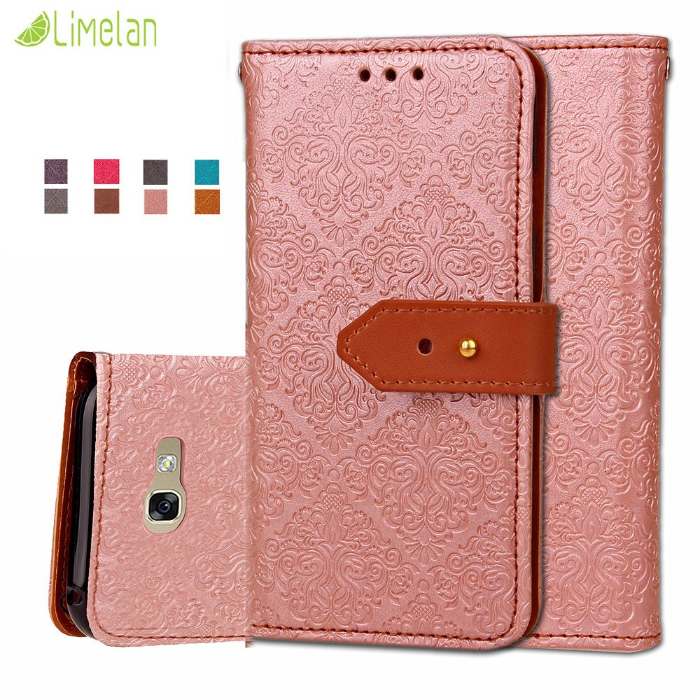 Click To Buy Limelan Luxury Damask Grain For Samsung Galaxy A3 A5 Goospery 2016 Canvas Diary Case Pink