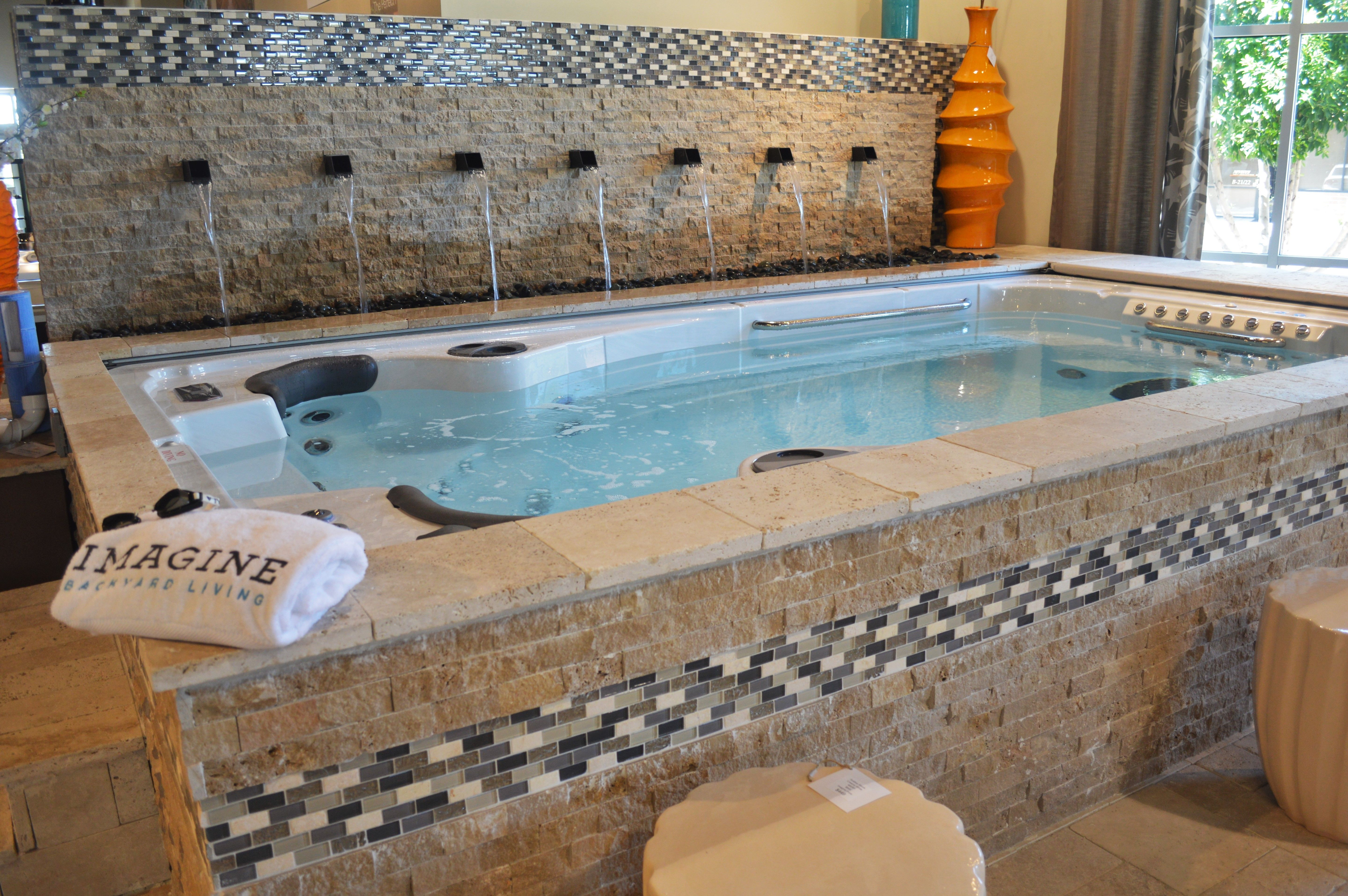 Imagine getting 20 minutes of exercise every morning or evening, then swimming over to the therapy jets for a quick massage in the therapy jets! It's the best way to start or end your day. Imagine Backyard Living sourced the finest and only self cleaning swim spa on the market and is the exclusive dealer in the Valley for HydroPool®. Stop by and see one in action and feel free to give it a try. Come as you are-we have towels and swim suits here!