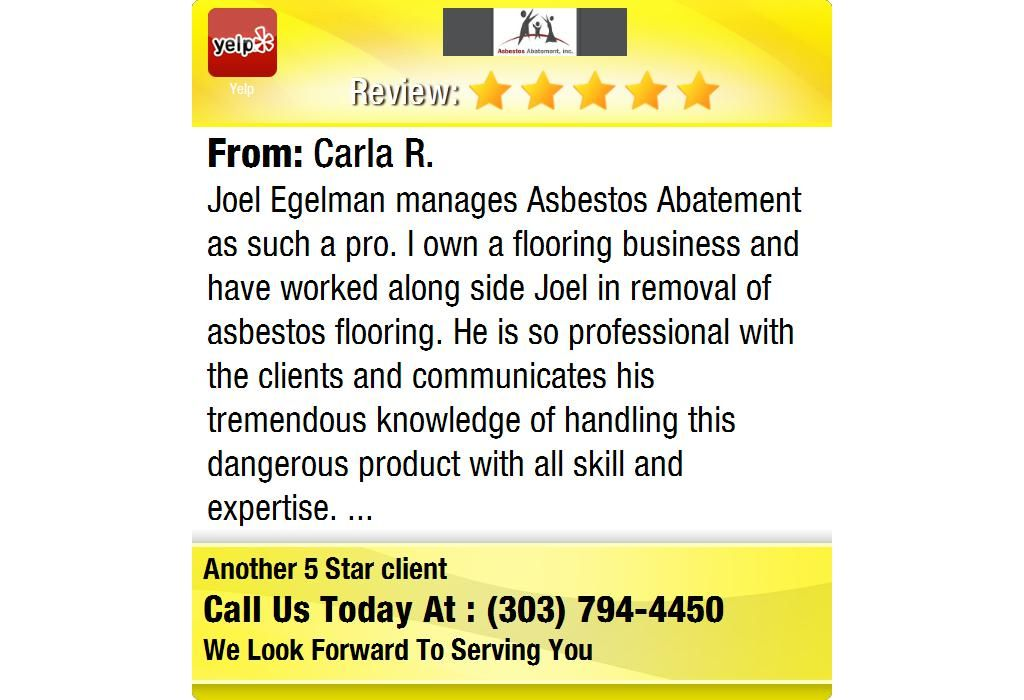 Joel Egelman manages Asbestos Abatement as such a pro. I own a flooring business and have...