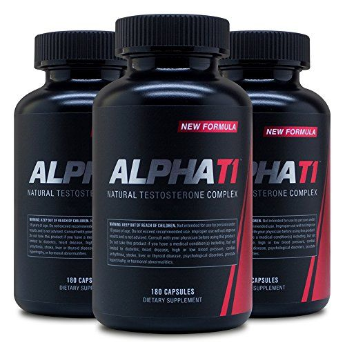 Alpha T1 180 Caps 3 Pack Testosterone Complex Natural Testosterone Supplement ** Amazon most