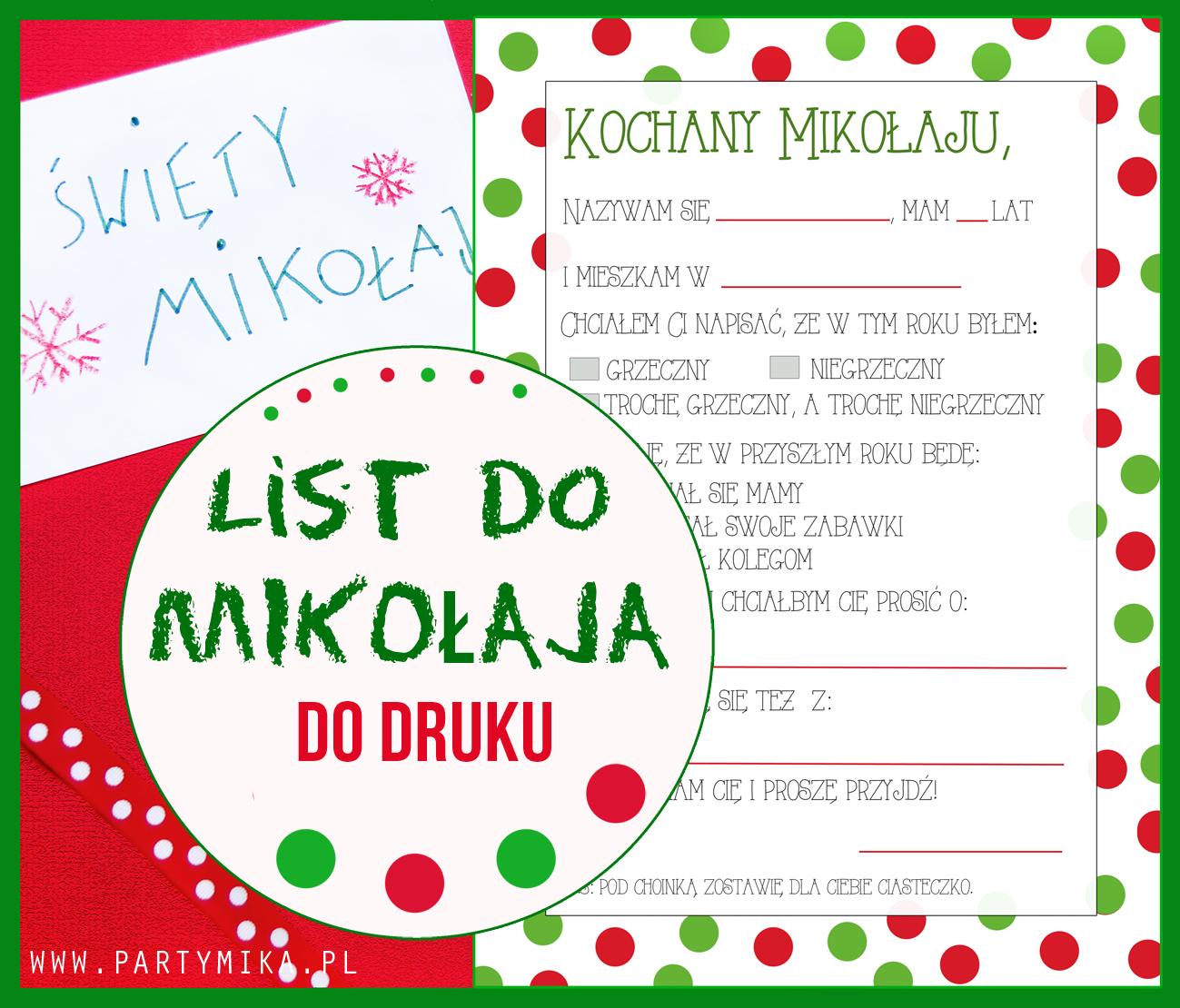 List Wia Tego Miko Aja Writing Letter Santa Claus Darmowy Szablon Druku List Do Mikolaja Darmowe Szablony Szablony Do Druku