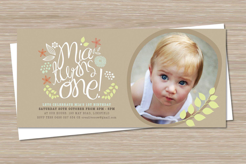First Birthday Party Invitations, 1st Birthday Invites Boy Girl ...