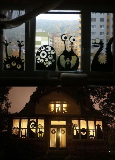 76 Scary but Creative DIY Halloween Window Decorations Ideas You Should Try – #C…