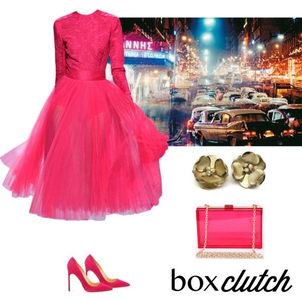 Box Clutch by dezaval on Polyvore featuring polyvore, fashion, style, Manolo Blahnik, Posh Girl, Wild Rose, women's clothing, women's fashion, women and female