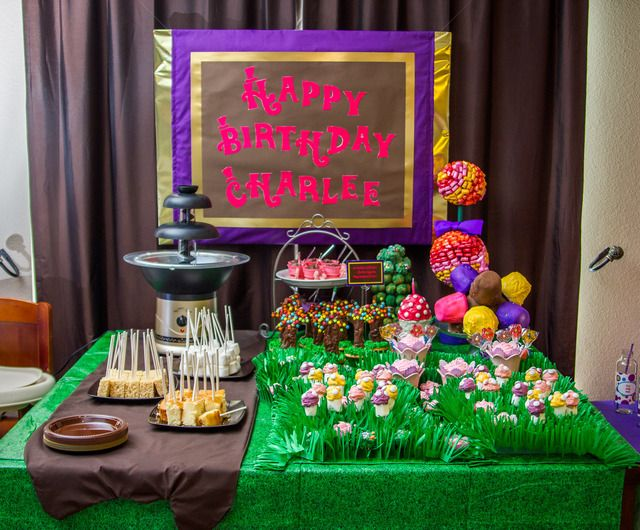 Cakes With Themes Chocolate Willy Wonka