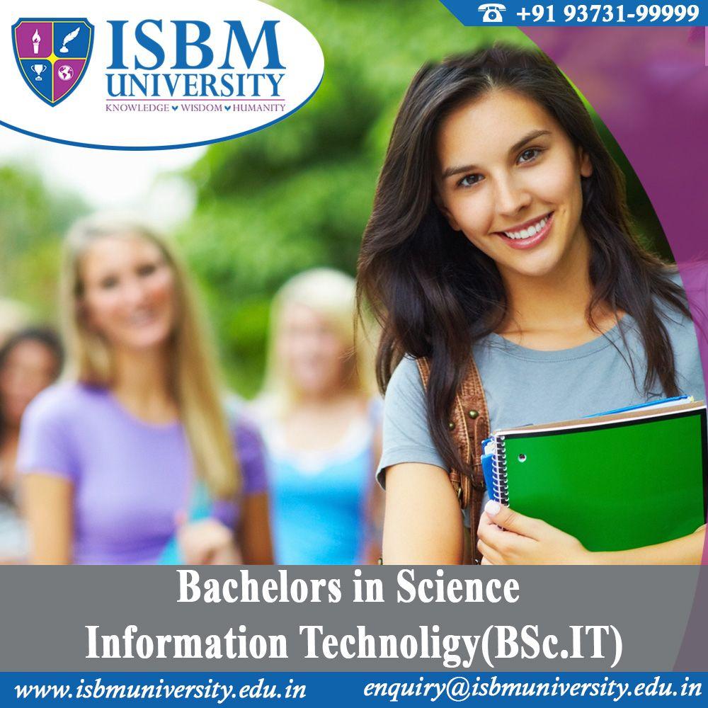 Enrol for Bachelors in Science InformationTechnology