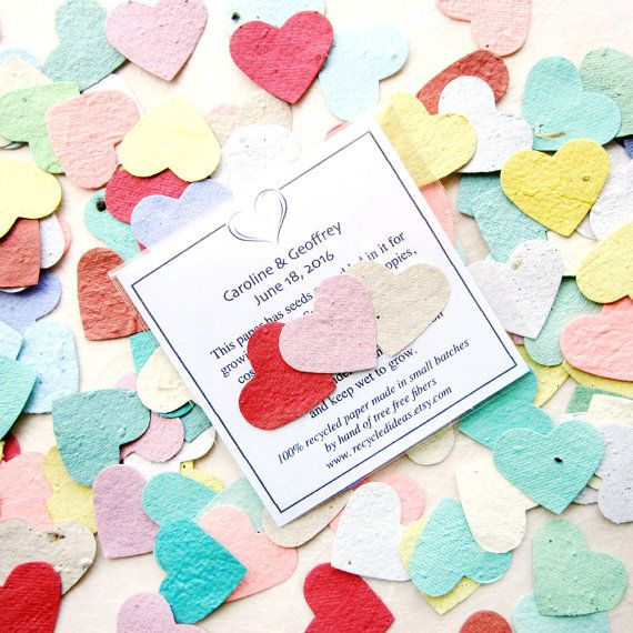 150 plantable paper wedding favors flower seed paper hearts 150 plantable paper wedding favors flower seed paper hearts packets custom printed cards seed envelopes favours seed paper and wedding mightylinksfo