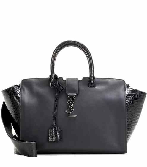 Monogram Downtown Small leather tote | Saint Laurent