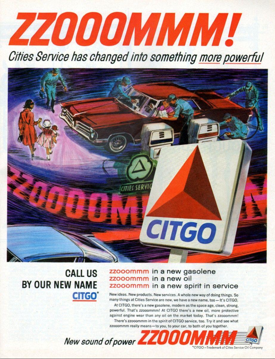 Citgo 1965 Old Gas Stations Old Ads Vintage Ads