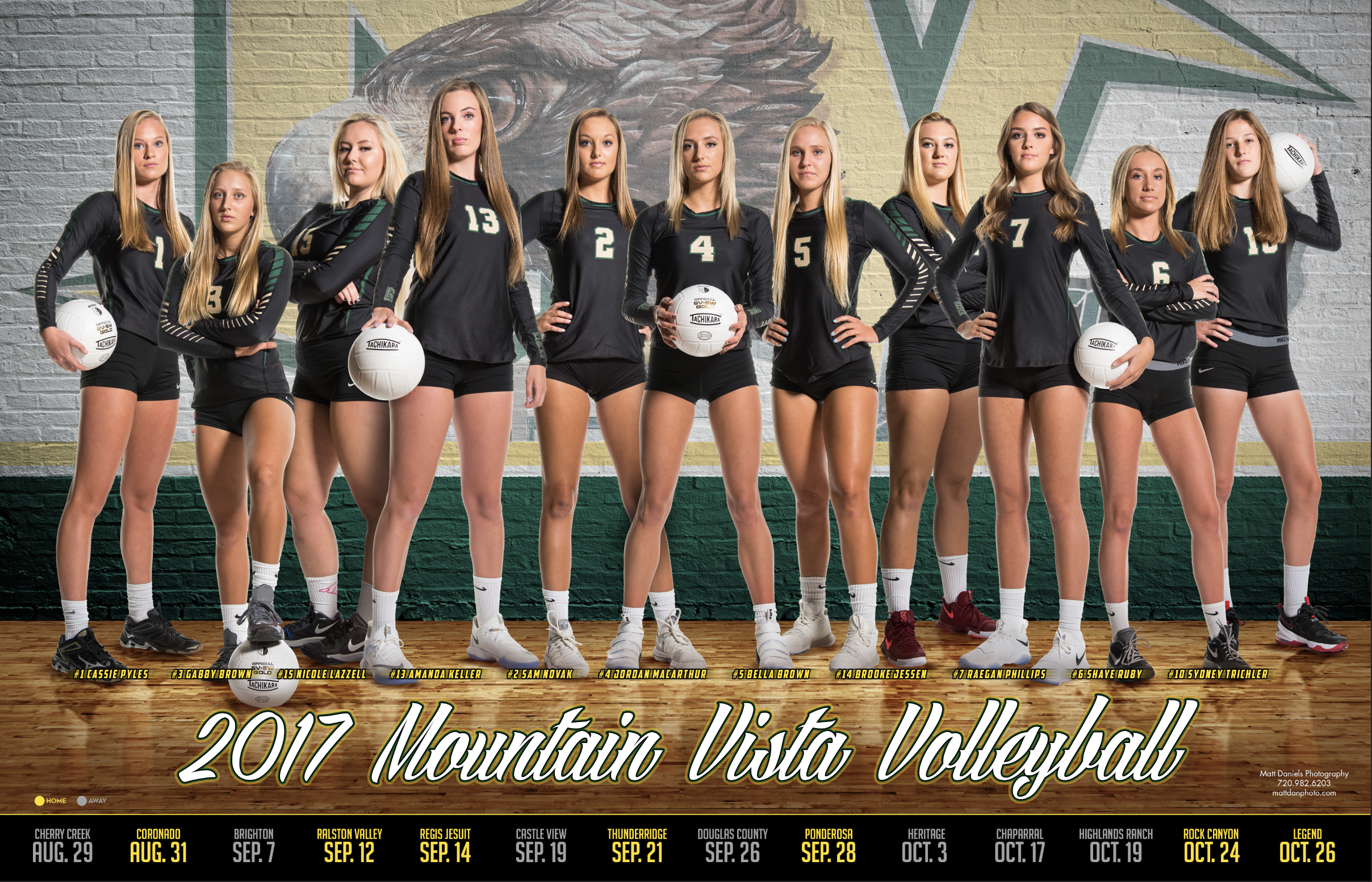 Photography And Poster Design For The 2017 Mountain View Volleyball Team Copyright 2017 Matt Da Volleyball Photography Volleyball Team Sports Team Photography