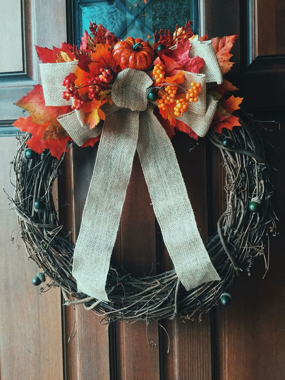 DIY Fall Wreath supplies from Michaels Diy fall wreath